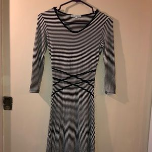 Dresses & Skirts - DE Collection Black and White Striped Dress XS